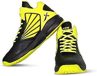 Vector X Slamdunk Basketball Shoes (Black-Green)