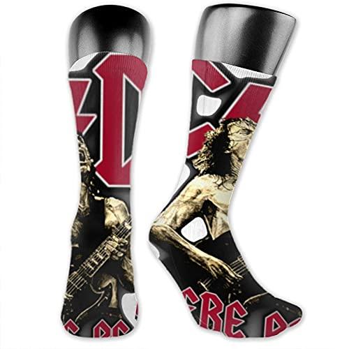 viata sock Calcetines altos Acdc calcetines de tubo suave novedad Crew calcetines atléticos cómodos calcetines largos