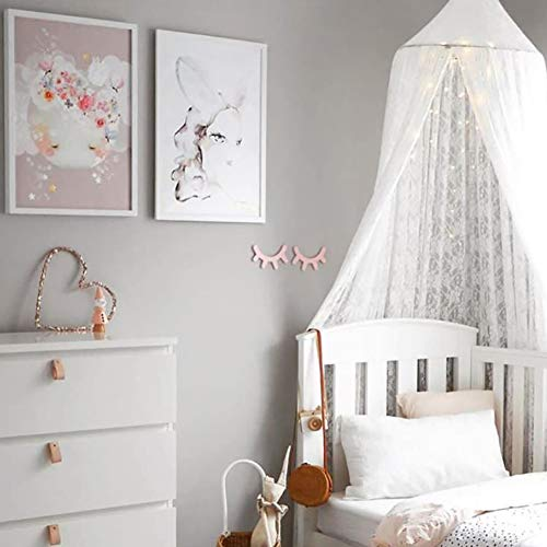 Bed Canopy Round Dome,Mosquito Net,Bed Canopy for Kid's Reading...