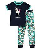 Lazy One Short-Sleeve Pajamas Sets for Girls and Boys, Kids' Soft Animal PJs, Mythical, Rainbow (I Believe Unicorn, 10)
