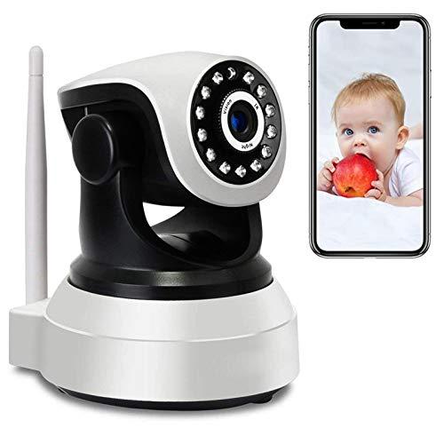 WiFi Monitor de bebé Vigilabebés con Cámara y Audio Cámara PTZ IP de Vigilancia Interior HD 1080P Detección de Movimiento,Alarma App,Visión Nocturna,Rotación355°/90°,Audio bidireccional 【Cámara】