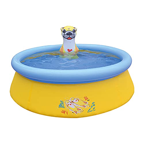 FDYZS Ucradle Pilling Pools for Kids Baby Inflatable Kiddie Swimming Pool Pool Ocean Life For Gardens Outdoor Backyard,Amarillo
