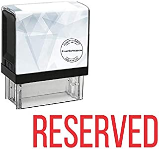 StampExpression - Reserved Office Self Inking Rubber Stamp - Red Ink (A-5382)