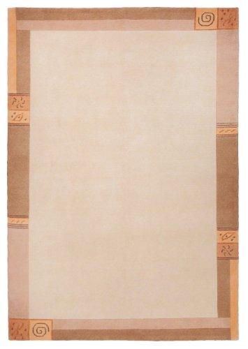 Sona-Lux Nepal Teppich handgeknüpft beige Größe auswählen 250 x 350 cm