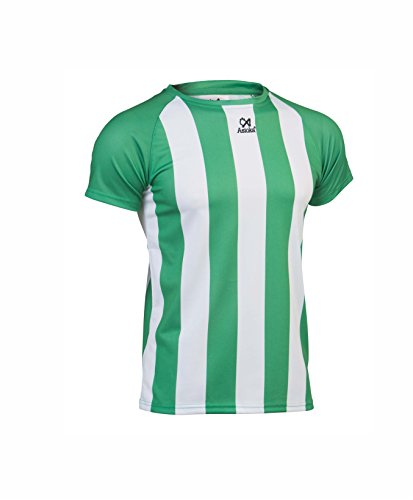 Asioka 84/11N Camiseta Deportiva, Unisex niños, Verde/Blanco, 5XS (4-6)