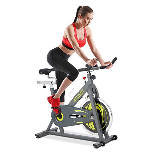 AECOJOY Cycling Exercise Bike Stationary 330 Lbs Weight Capacity, Indoor Cycling Bike Silent Belt Drive LCD Display with Comfortable Seat Cushion