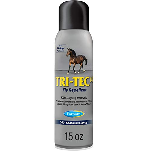 Farnam Tri-Tec 14 Fly Repellent for Horses,15 Ounce Continuous Spray