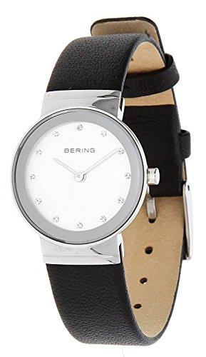 Bering Time Damen Analog Quarz Uhr mit Leder Armband 10126-400