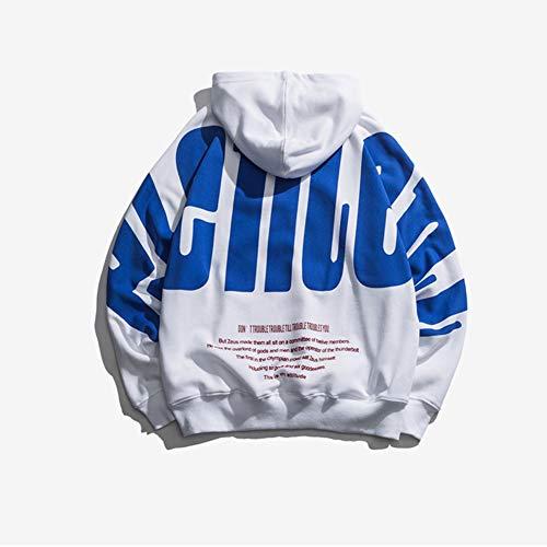 KRILY Trui met lange mouwen voor heren Casual katoenen tops Outdoor Hip Hop Sweatshirt