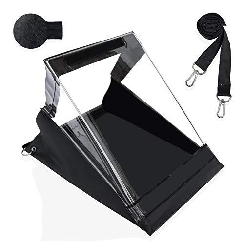 Churich Waterproof Clipboard PVC A4 Portrait Black Weatherwriter Cover...