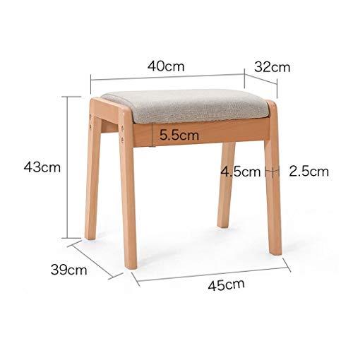 Kruk en voetensteun, massief hout, comfortabel, handgemaakt, ergonomisch, tuinbank, antislip, voetensteun A grijs.