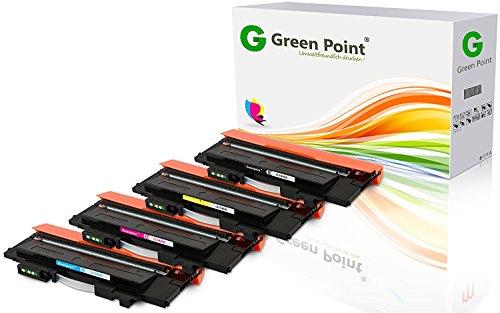Greenpoint 4 Toner Kompatibel für Samsung Xpress C430W C480W FW FN Farblaserdrucker CLT-P404C/ELS - Schwarz und Color (C, Y, M)