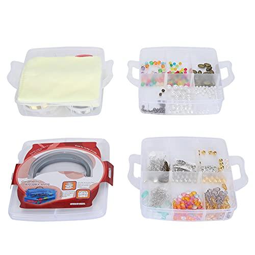 Accesorios de joyería de bricolaje, kit de suministros de fabricación de joyas portátil 804 piezas para el hogar