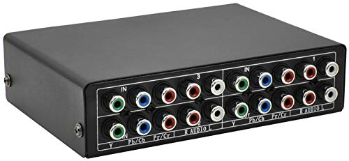 Aobelieve Component Switch Box RGB Video Switcher, 3 Input to 1 Output