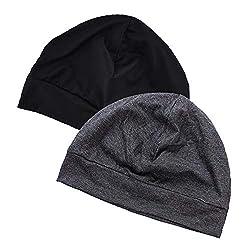 EINSKEY Mütze Herren Damen Baumwolle Skull Cap Dünne Winddicht Unterziehmütze Helmmütze Kopfbedeckung für Fahrrad, Schlaf, Chemo
