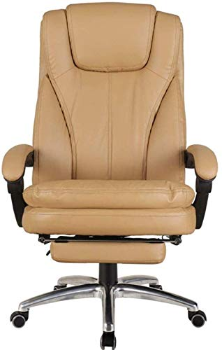 aipipl Cozy Executive Recline High Back Executive Computer Desk And Chair PU Leather Metal Base Tilt Angle Locking System Telescopic Footrest Bearing Weight 150kg