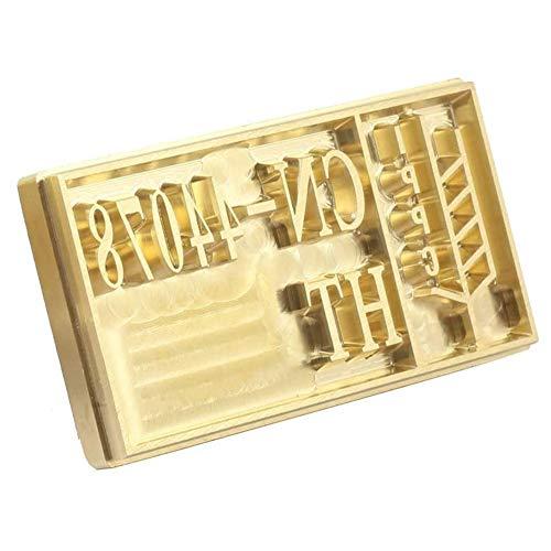 FDYD Logo Heißfolienprägen Messingform Branding Iron Heizung für Leder, Holz, Papier Wood Burning Stamp,1''x1''
