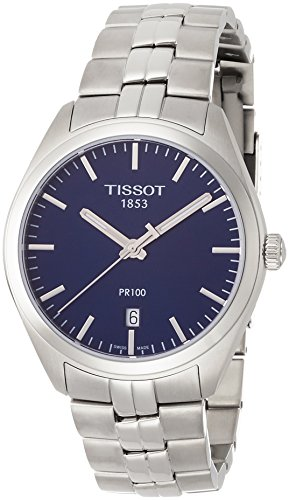 TISSOT Herren Analog Quarz Uhr mit Edelstahl Armband T1014101104100