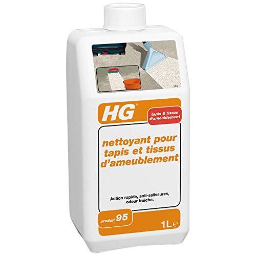 HG nettoyant pour tapis et tissus d'ameublement 1L – un nettoyant tapis qui élimine rapidement et efficacement la saleté
