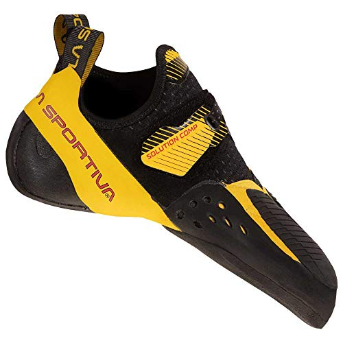 LA SPORTIVA Herren Solution Comp Trekkingschuhe, Black/Yellow, 41 EU