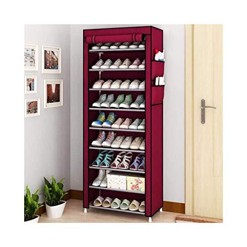 Zapatero, Zapatos a prueba de polvo Gabinete multiusos de almacenamiento portátil de almacenamiento de guardarropa Rack para zapatos y ropa 10 Nivel / Se adapta 30 pares de zapatos Material no tejido