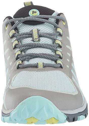 Merrell Siren Edge Q2, Chaussures de Randonnée Basses Femme, Multicolore (Paloma/Aqua), 41 EU