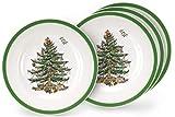 Spode Christmas Tree 10' Dinner Plate Set Of 4 - Holiday Design Dinnerware