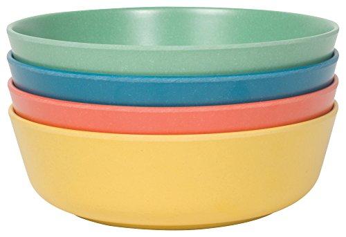 Now Designs Ecologie Dinner Bowls, Set of Four, Fiesta Colors