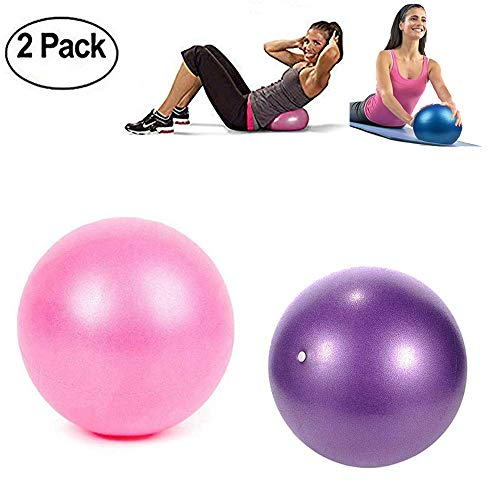 TopBine Gymnastikball Mini Pilates Ball Yoga Ball 23cm, inkl Aufblasen Röhrchens, Für Fitness, Reha, Rückentraining und Coordination Herren Damen Kinder