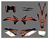 Zhbqcmou Etiqueta engomada de la decoración del Fondo de la Motocicleta para KTM 125 150 200 250 300 350 450 500 SX SX-F XC XC-F XC-W XCF-W EXC EXC-F 2013-2015 hnzhb
