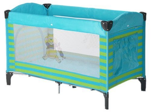 Prokids Disney Baby G220Ab - Reisebett mit Mobile, Travelbed Lux with mobile, Farbe Poolicious Blue, Motiv Winnie Pooh