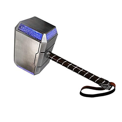 sookin Thor's Hammer Rubie 's Marvel Cosplay Requisiten Harz Donner Hammer Superheld Spielzeug Kampfhammer Spielzeug Sammler Kostüm Waffe Elektronischer Hammer Halloween Prop Waffe