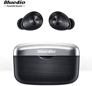 [2020 Latest Bluetooth 5.0 Instant Connection] Bluedio Fi Smart Touch Earphone TWS High Sound Quality Waterproof Sport Wir...