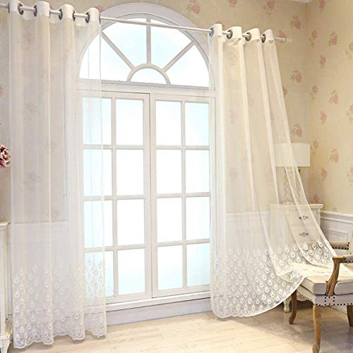 1pcd Cortina Cortina Sheer transparant doorschijnend decoratieve Tul chiffon lange sjaal Multifunctionele Hall Bed Scene Bedroom Garden banket,250x270cm(98x106inch)