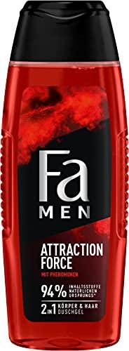 Fa Men 2in1 Körper & Haar Duschgel Attraction Force mit erfrischendem Duft von Bergamotte & Limette, 250 ml