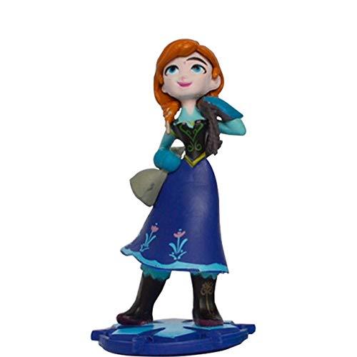 Figura Juguete Elsa Y Anna Figuras Juguetes Muñecas PVC Anime Muñecas Figuras De Colección Modelo Juguetes para Niños