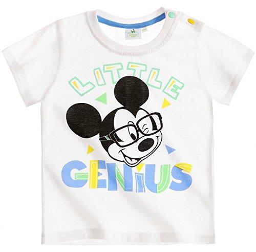Tee shirt manches courtes bébé garçon Mickey Blanc de 3 à 24mois (3 mois)