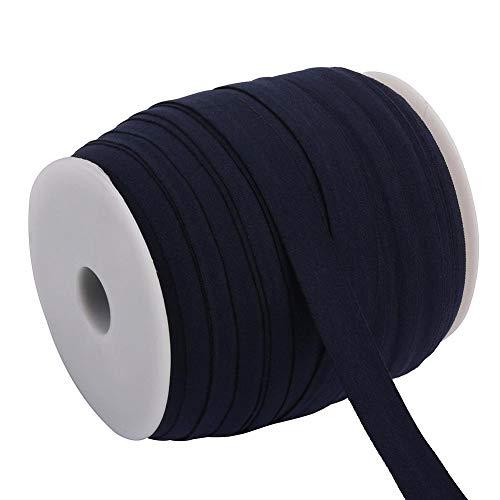 Brinube 100M Kleur Stretch Band Gebruikt voor een Lange tijd Telescopische Riem Geschikt voor Haarbanden Kettingen Shorts Rokken Hoed Elastische Band niet Vervorming 1.5cm Navy Blauw 2