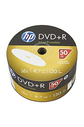 Hp - DVD+r 16x FF Inkjet Printable Bobina 50 uds