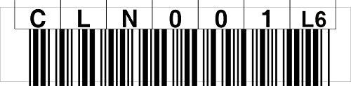 LTO 6 Cleaning Label horizontal Nummernkreis CLN001 - CLN020 (L6)