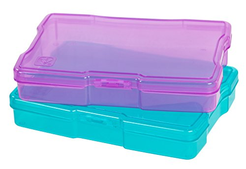 "IRIS USA, Inc. KP-PC Photo and Craft Case, 18 Pack, Assorted Colors, 4"" x 6"", Blue/Purple, 18 Count"