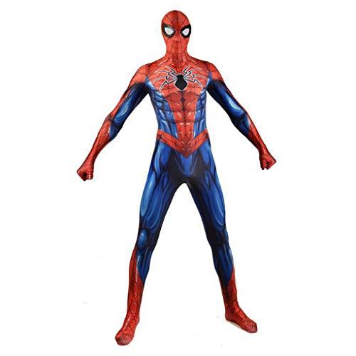 Performance Cosplay Luxe film kostuum Superheld Spiderman Onesies elastische kousen Halloween-kostuum kinderen heren kinderen jongens pak SPIDERSYBB Adult-XXXL(185-195) blauw