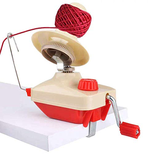 Yarn String Winder,Fortspang Yarn Ball Winder Hand Operated Wool Winder Holder...