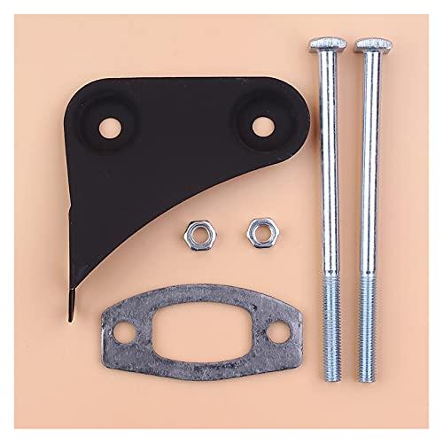 Aplicabilidad Kit de reparación de la junta del soporte del tornillo del tornillo del silenciador Ajuste para For Husqvarna 50 51 55 Piezas de repuesto de motosierra de gas ranchero Ajuste perfecto