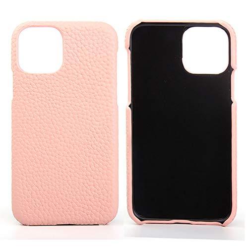 Lederen Case voor Iphone 11 / SE 2020 / SE 2 Premium Echte Koeienhuid met Nieuwe Slanke Ontwerp Dunne Bescherming Harde Achterkant Van de Behuizing,Pink,SE 2