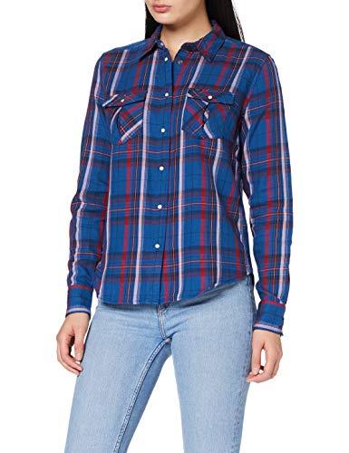 Lee Regular Western Shir Camisa, Aceite Azul, M para Mujer