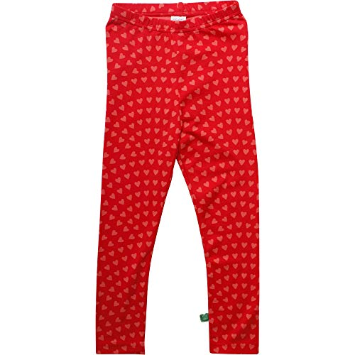 Fred'S World By Green Cotton Heart Leggings, Rouge (Traffic Red 018176306), 62 Bébé Fille