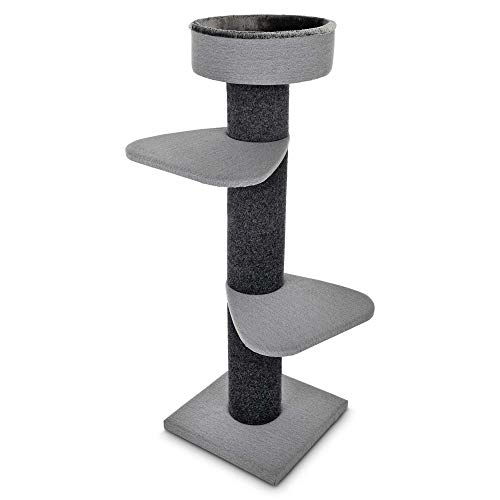 """You & Me Rooftop Vista 3-Level Cat Tree, 55.5"""" H, 24 in, Blue/Grey"""