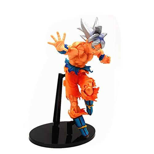 QI-shanping Anime Spielzeug Dragon Ball Super Key of Egoism Goku Modell PVC Dekoration Schüler Farbe Und Haarfarbe Etwas Silber Linie Junge Geschenk Dragon Ball Action Figure