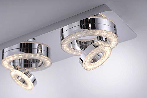 LED Decken Strahler Chrom Wohn Ess Zimmer Beleuchtung Kristall Design Spots schwenkbar LeuchtenDirekt 14521-17